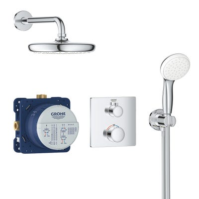 Grohe GrohthermPerfect Shower Set With Tempesta 210 - 34729000