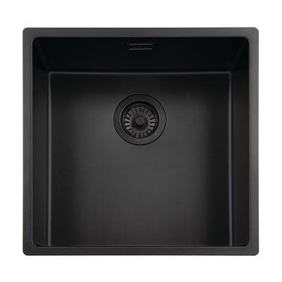 Reginox New York 40 x 40 Sink Black Steel