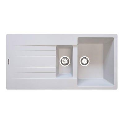 Reginox Hampton 15 1.5 Bowl Inset Sink & Drainer Pure White