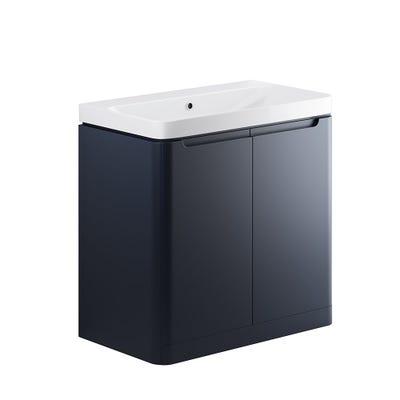 Lambra 800mm 2 Door Floor Standing Basin Unit - Matt Indigo
