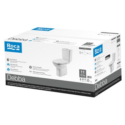 Roca Debba Closed Coupled WC Toilet With Seat