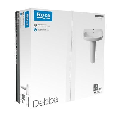 Roca Debba 550mm Basin & Full Pedestal