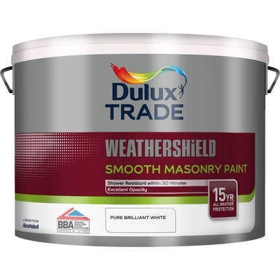 Dulux Trade Weathershield Smooth Masonry Paint Pure Brilliant White