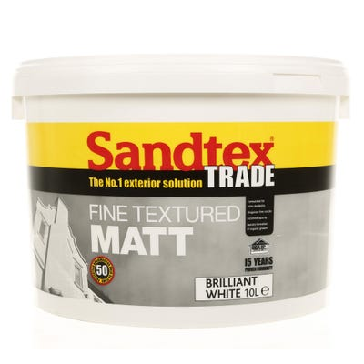 Sandtex Trade Fine Textured Matt Brilliant White