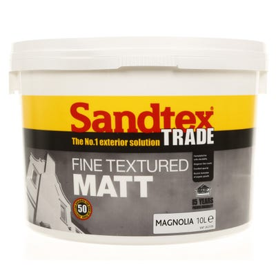 Sandtex Trade Fine Textured Matt Magnolia