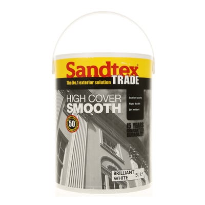 Sandtex Trade High Cover Smooth Brilliant White 5L