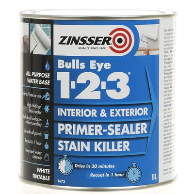 Zinsser Bullseye 1-2-3 Interior Primer Sealer White