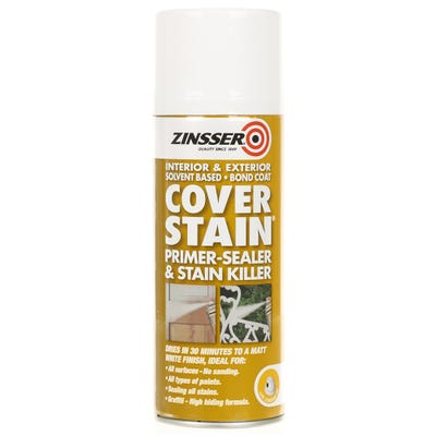 Zinsser Cover-Stain Interior & Exterior Sealer & Stain Killer Spray White 400ml