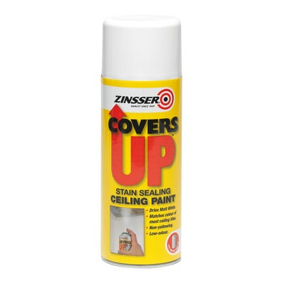 Zinsser Covers Up Stain Sealing Ceiling Spray White 400ml