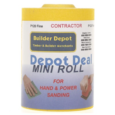 Builder Depot Contractor Yellow Ally Oxide Sandpaper 10m Roll