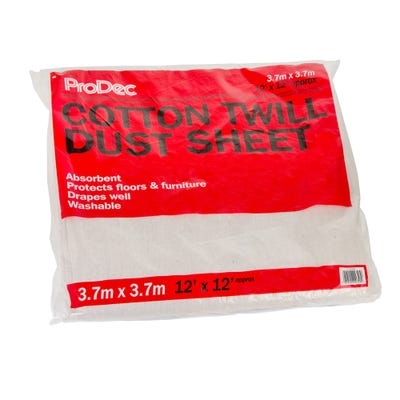 ProDec Cotton Twill Dust Sheet 12' x 12'