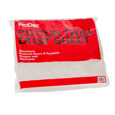 ProDec Cotton Twill Dust Sheet 24' x 3'
