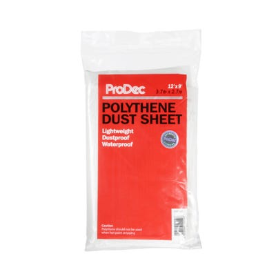 ProDec Polythene Dust Sheet 12' x 9'