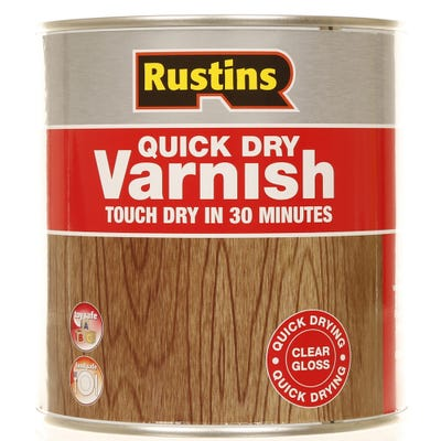 Rustins Quick Dry Varnish Gloss Clear 1L