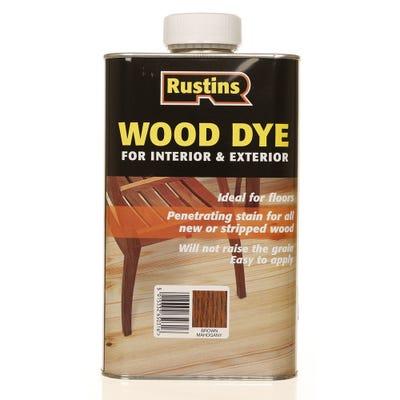 Rustins Brown Mahogany Wood Dye Internal & External