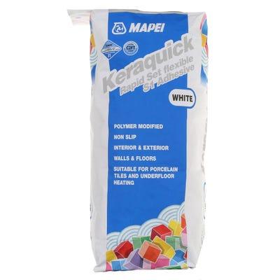 Mapei Keraquick White Rapid Setting Flexible S1 Adhesive 20Kg