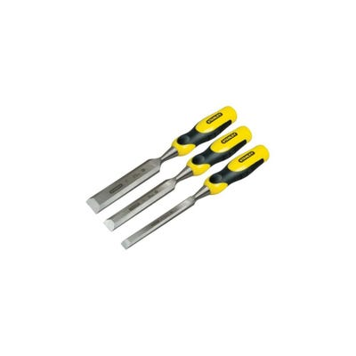 Stanley Dynagrip 3 Piece Chisel Set With Strike Caps