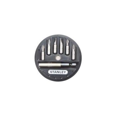 Stanley 7 Piece Phillips, Slotted & Pozidriv Insert Bit Set