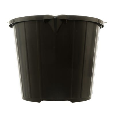Large 3 Gallon Black Plastic Bucket