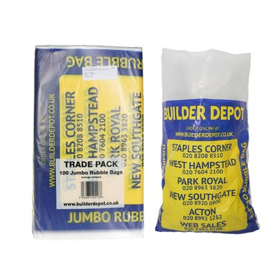 45L Jumbo Builder Depot Rubble Bag 560mm x 890mm