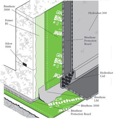 1000mm x 25m Bituthene GP Self Adhesive Membrane