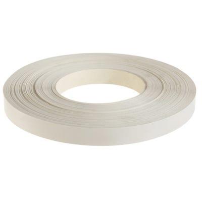 22mm White Iron On Edging Tape 50m
