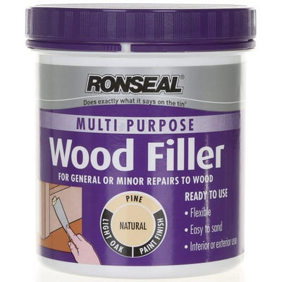 Ronseal Multi Purpose Wood Filler Tub Natural 930g