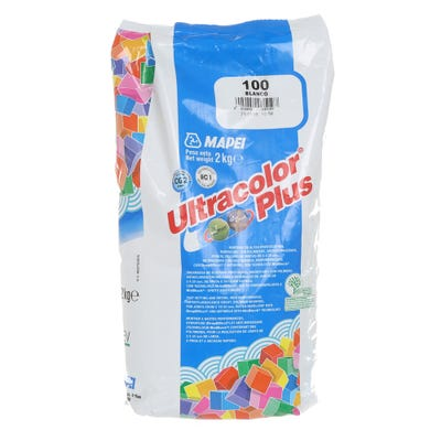 Mapei Ultracolor Plus White (100 ) Fast Set Water Repellent Tile Grout 2Kg