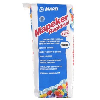 Mapei Mapeker White Rapid Set Flex Adhesive 20Kg