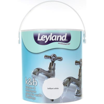 Leyland Kitchen & Bathroom Paint Brilliant White 2.5L