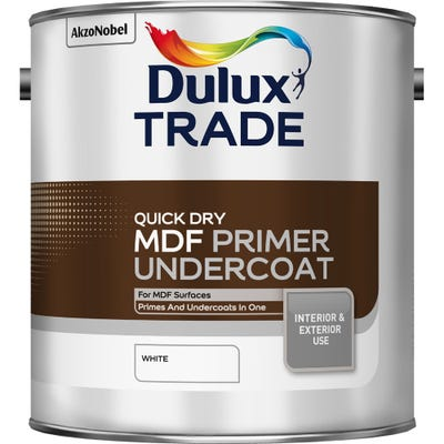 Dulux Trade Quick Dry MDF Primer Undercoat White 2.5L