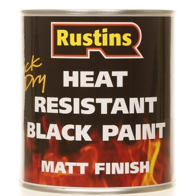 Rustins Quick Dry Heat Resistant Black Paint Matt 500ml