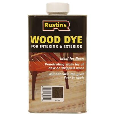 Rustins Ebony Wood Dye Internal & External