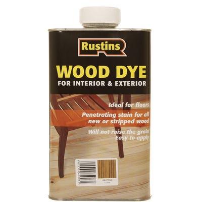 Rustins Light Oak Wood Dye Internal & External