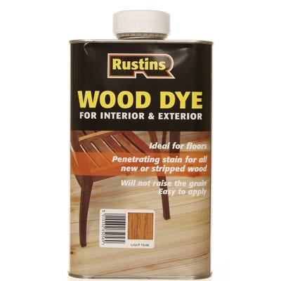 Rustins Light Teak Wood Dye Internal & External