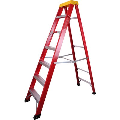 ProDec Fibreglass Step Ladder 1.9M