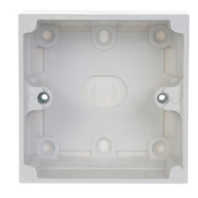 MK 40mm 1 Gang Surface Box 2031WHI