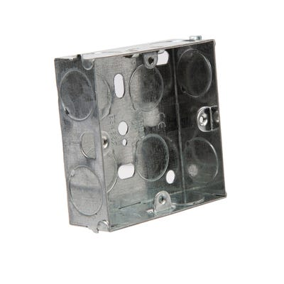 1 Gang 25mm Flush Metal Box