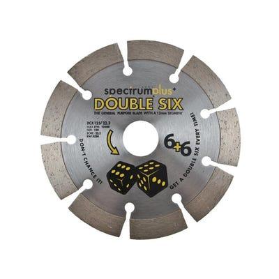 Spectrum 125mm DCX Double Six Plus General Purpose Diamond Blade