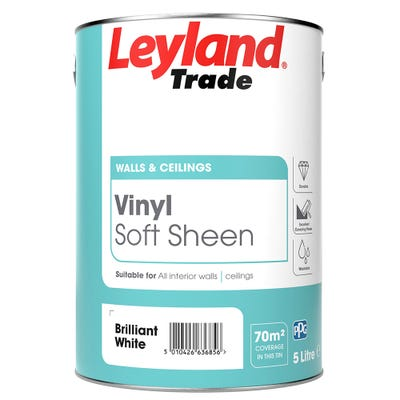 Leyland Trade Vinyl Soft Sheen Brilliant White