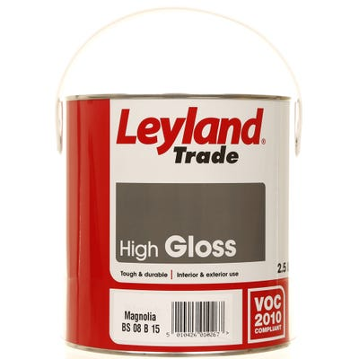 Leyland Trade High Gloss Magnolia 2.5L