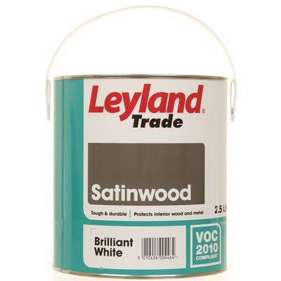 Leyland Trade Satinwood Brilliant White