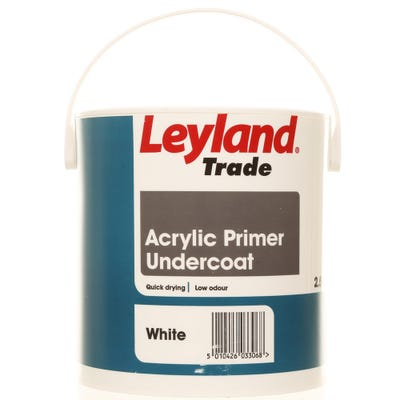 Leyland Trade Acrylic Primer Undercoat White