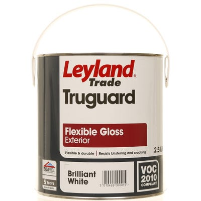 Leyland Trade Truguard Flexible Gloss Exterior Brilliant White 2.5L