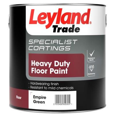 Leyland Trade Heavy Duty Floor Paint Empire Green 2.5L