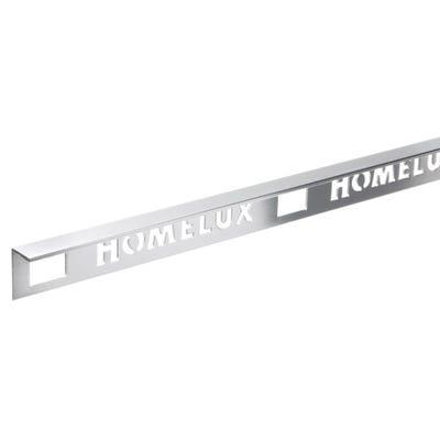 Homelux 10mm Silver Metal Tile trim 2.5m