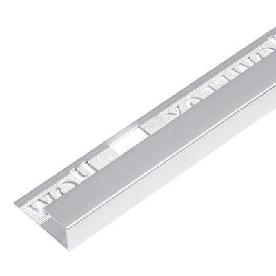 Homelux 12.5mm Silver Square Edge Metal Tile Trim 2.5m