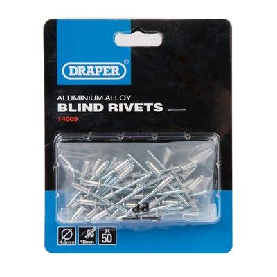 Draper 4mm x 10mm Rivets 14009