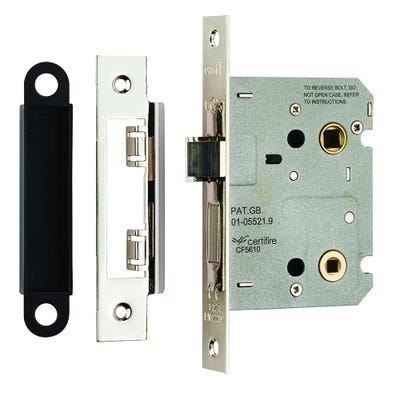 Eurospec Easi-T Bathroom Lock 76mm Nickel Plate
