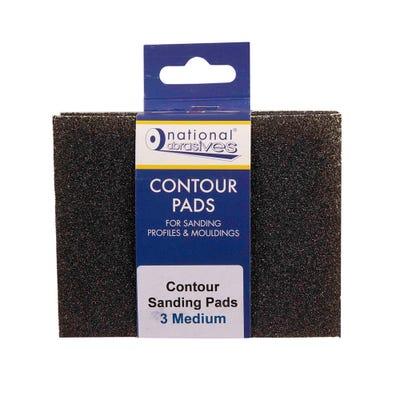 Contour Medium Sanding Pads Pack of 3